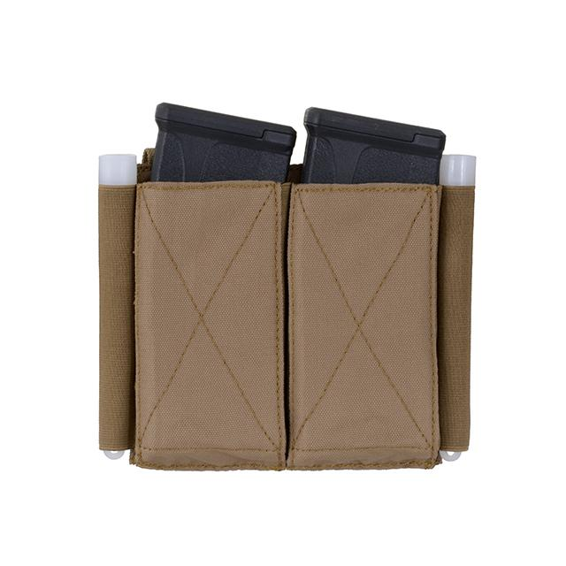 Pouch elástico doble para cargadores 5.56 - Coyote/Tan - Rebel Replicas