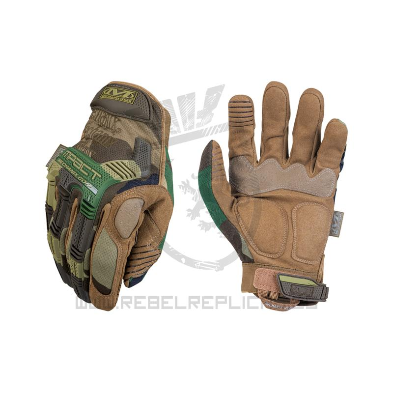 Guantes The Original M-Pact Gen II - Woodland - Talla M - Mechanix - Rebel Replicas