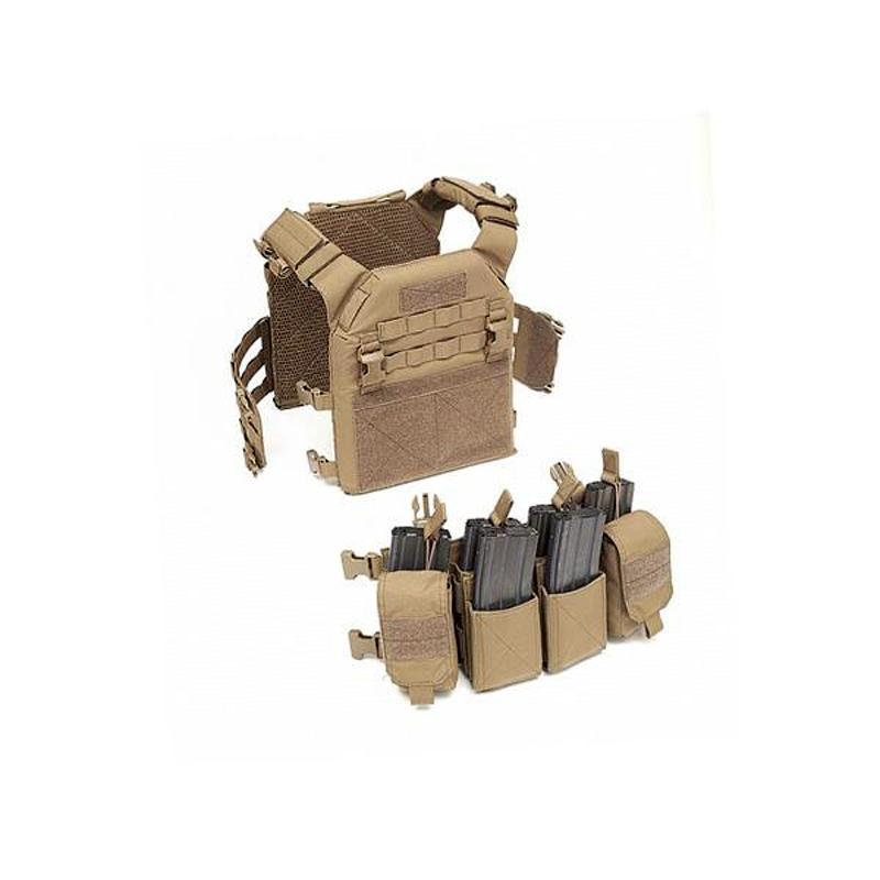 Combo Recon Plate Carrier MK1 + Pathfinder - Talla M - Coyote/Tan - Rebel Replicas