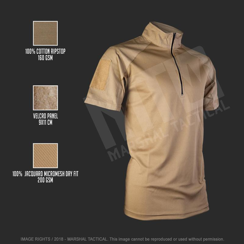 Camiseta táctica Minimal MTS - Tan - Talla S - Marshal Tactical - Rebel Replicas