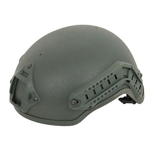 Replica de casco MICH2001 con railes - Verde OD - Rebel Replicas