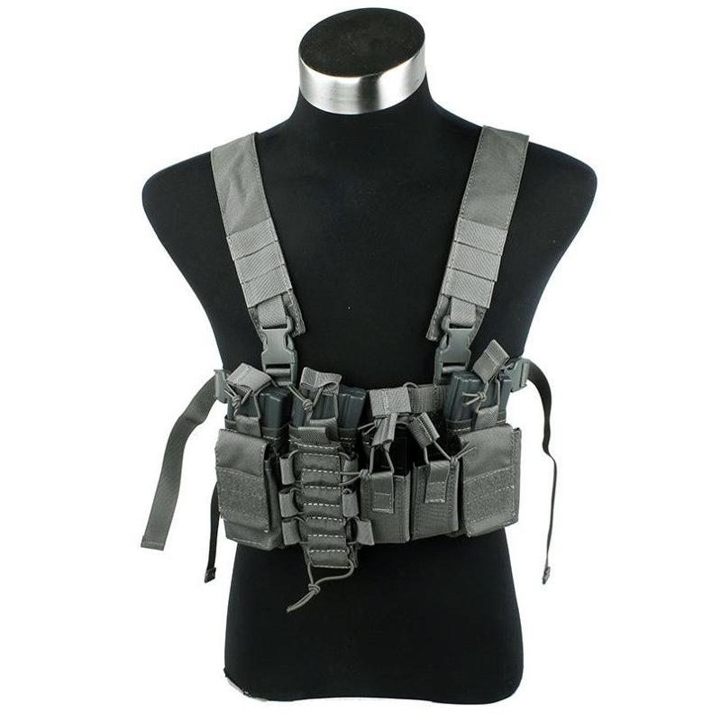 Chest rig D-Mittsu - Foliage Green - Rebel Replicas