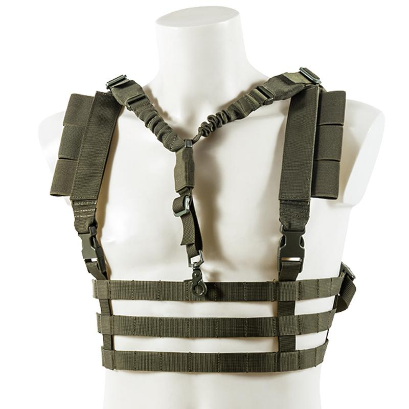 Chest Rig ligero Fast Molle - Verde OD - BLACK RIVER - Rebel Replicas