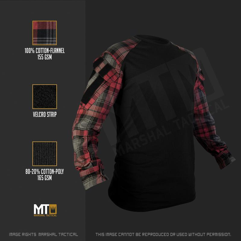 Camisa Tactical Lumberjack - Rojo - Talla XXXL - Marshal Tactical - Rebel Replicas