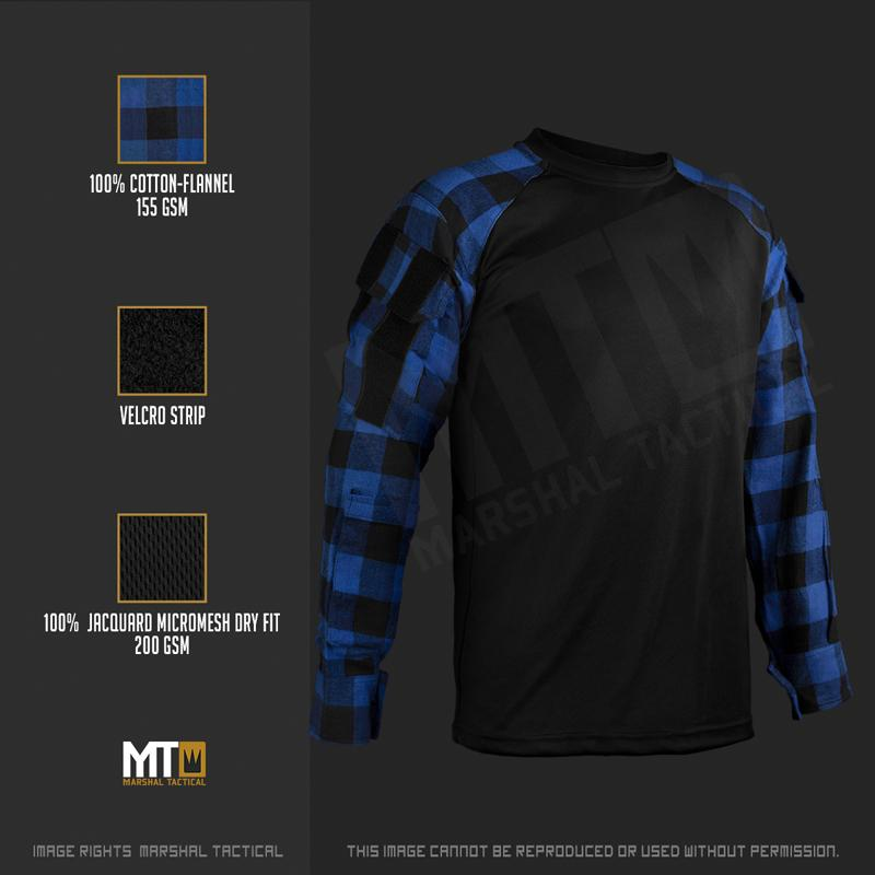 Camisa Tactical Lumberjack Mesh - Azul - Talla L - Marshal Tactical The Time Seller
