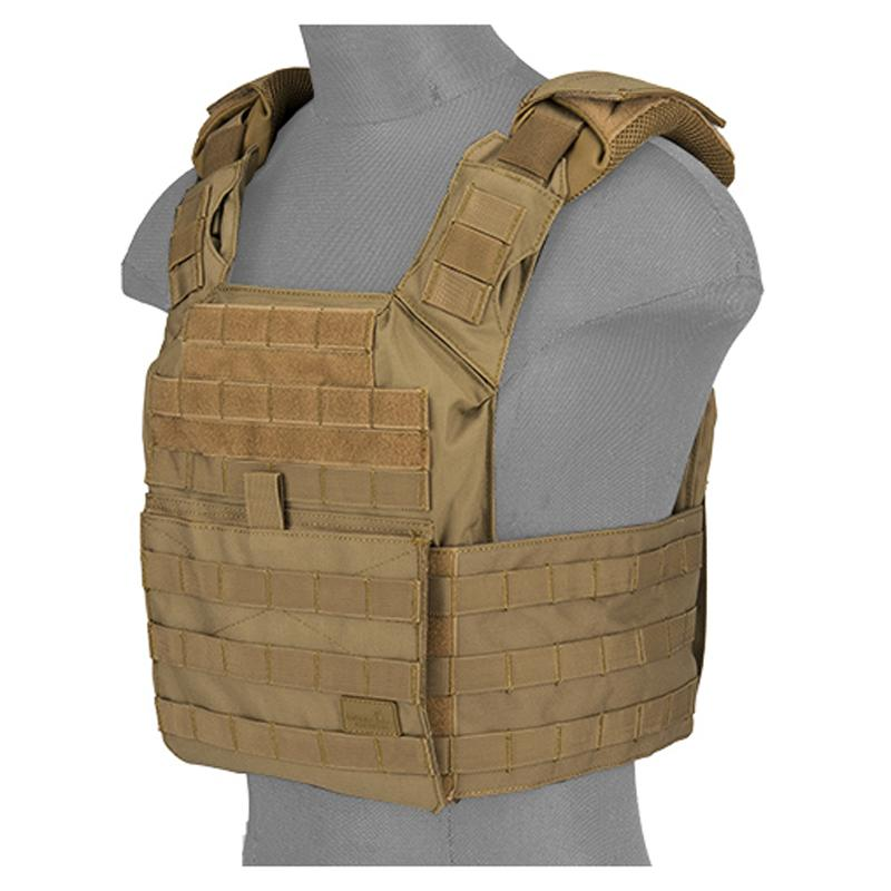 Plate Carrier SPAC 1000D - Tan - Lancer Tactical - Rebel Replicas