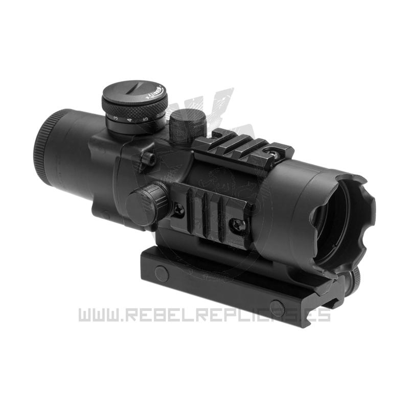 Mira táctica 4x32 IR - Negro - Aim-0 - Rebel Replicas