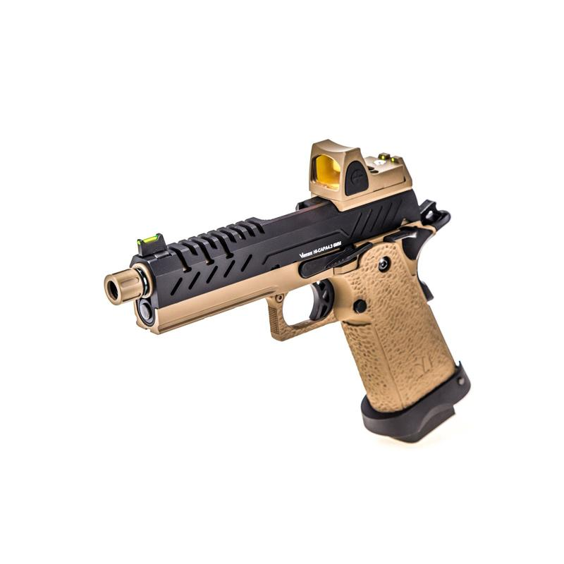 Pistola HI-CAPA 4.3 + Red Dot BDS - GBB - Negro/Tan - Vorsk - Rebel Replicas