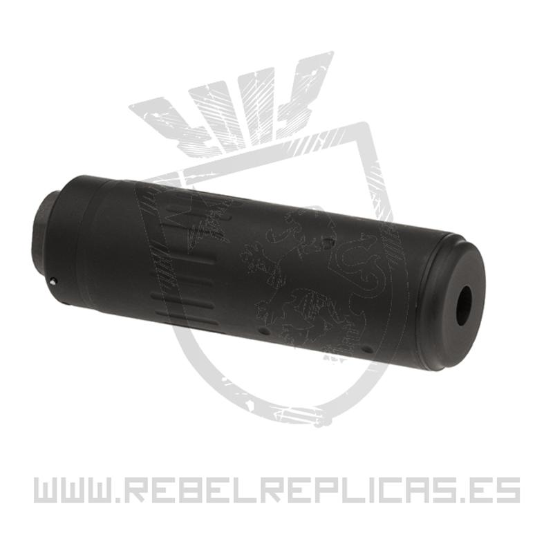 Silenciador AAC 125mm - 14mm - CCW - Negro - Big Dragon - Rebel Replicas