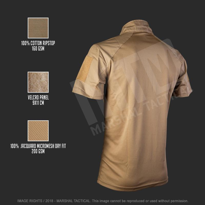 Camiseta táctica Minimal MTS - Tan - Talla XXXL - Marshal Tactical - Rebel Replicas