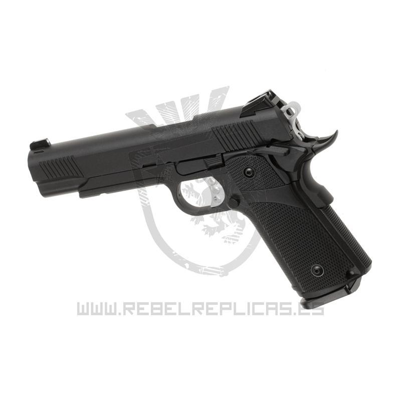 HI-CAPA 5.1 FULL METAL - GBB - Negro - KJ Works - Rebel Replicas