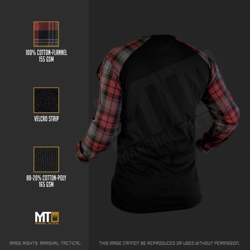 Camisa Tactical Lumberjack - Rojo - Talla XXXL - Marshal Tactical - Rebel Replicas
