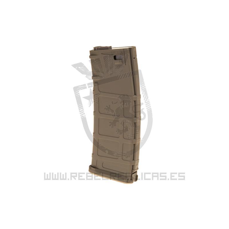Cargador Mid-Cap para M4 - 120 BBs - Tan - Union Fire - Rebel Replicas