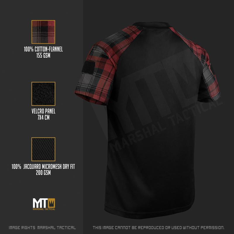 Camiseta Tactical Lumberjack Mesh - Rojo - Talla XL - Marshal Tactical - Rebel Replicas