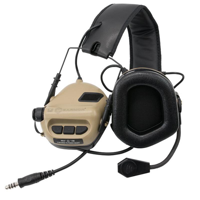 Comunicador táctico M32 MOD 3 - Tan - Earmor - Rebel Replicas