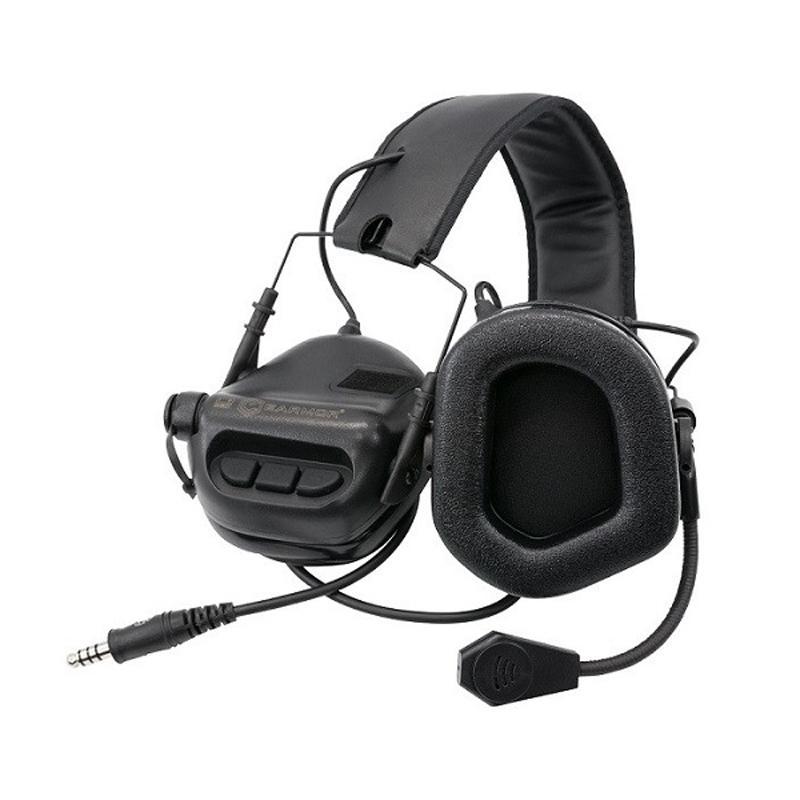 Comunicador táctico M32 MOD 3 - Negro - Earmor - Rebel Replicas
