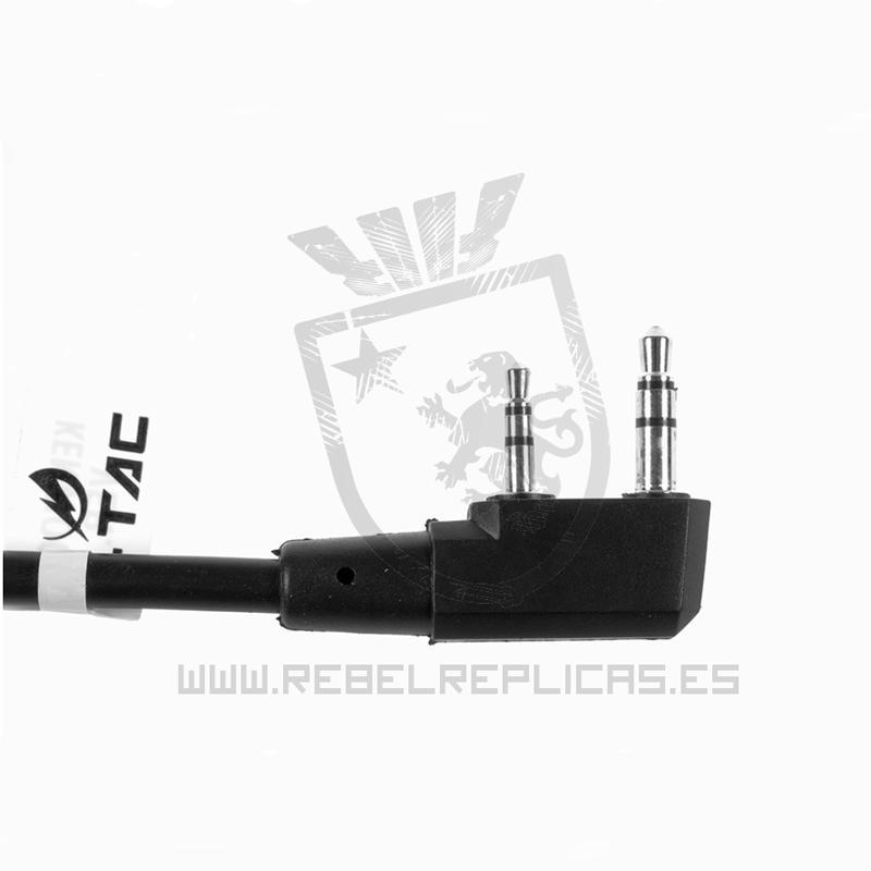 Cable con conector Kenwood para Z4 PTT - Rebel Replicas