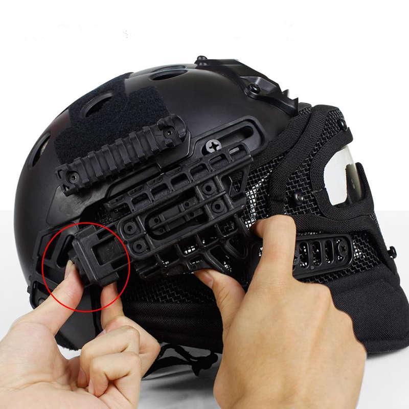 Casco Táctico PJ con máscara de malla - Tan - Rebel Replicas