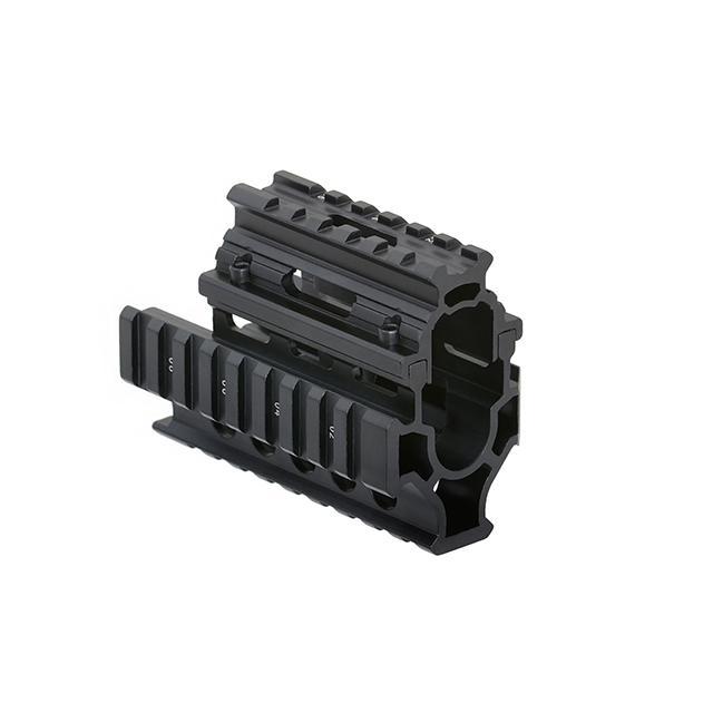 Guardamanos compacto con 4 raíles para AK - Negro - Rebel Replicas
