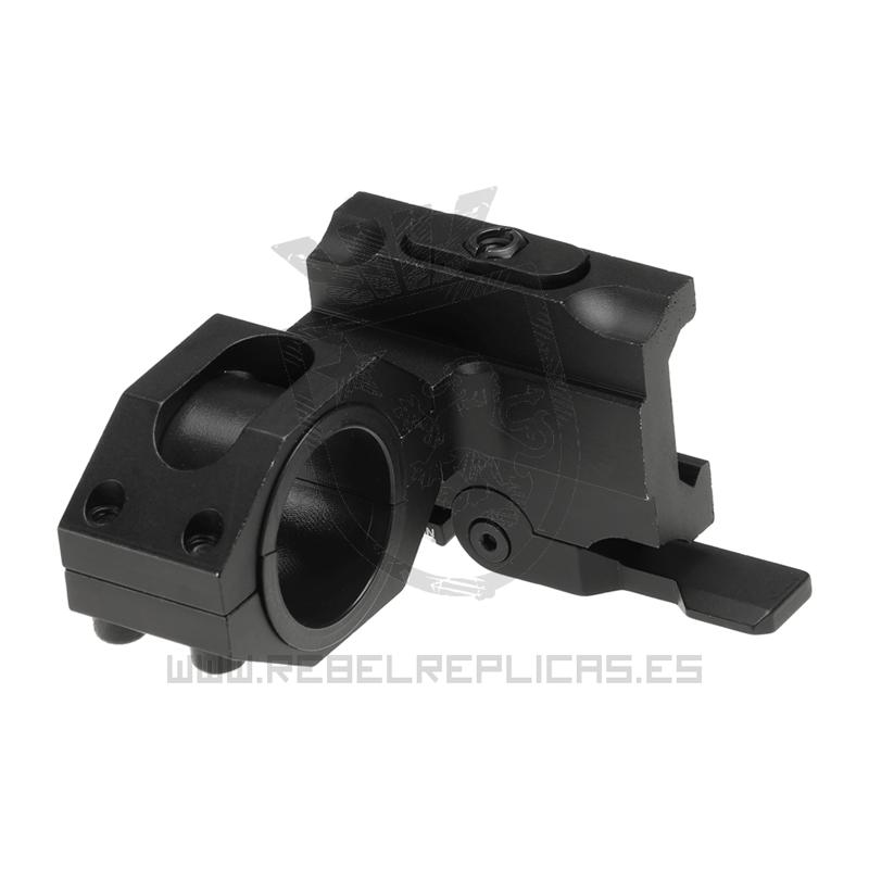 Montura táctica QD 25.4 / 30mm - Negro - Aim-0 - Rebel Replicas