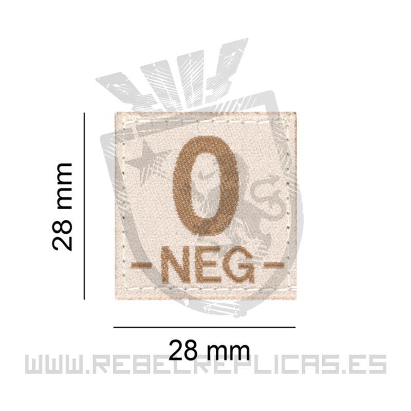 Parche de grupo sanguineo O Neg - Rebel Replicas
