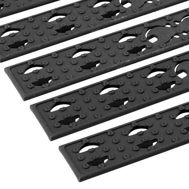 Kit de paneles planos para guardamanos Key-Mod - Negro - Battle Axe - Rebel Replicas